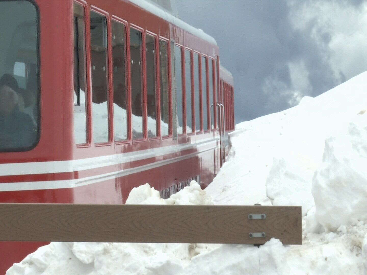 The Cog Railway makes it way up Pikes Peak during the winter season.