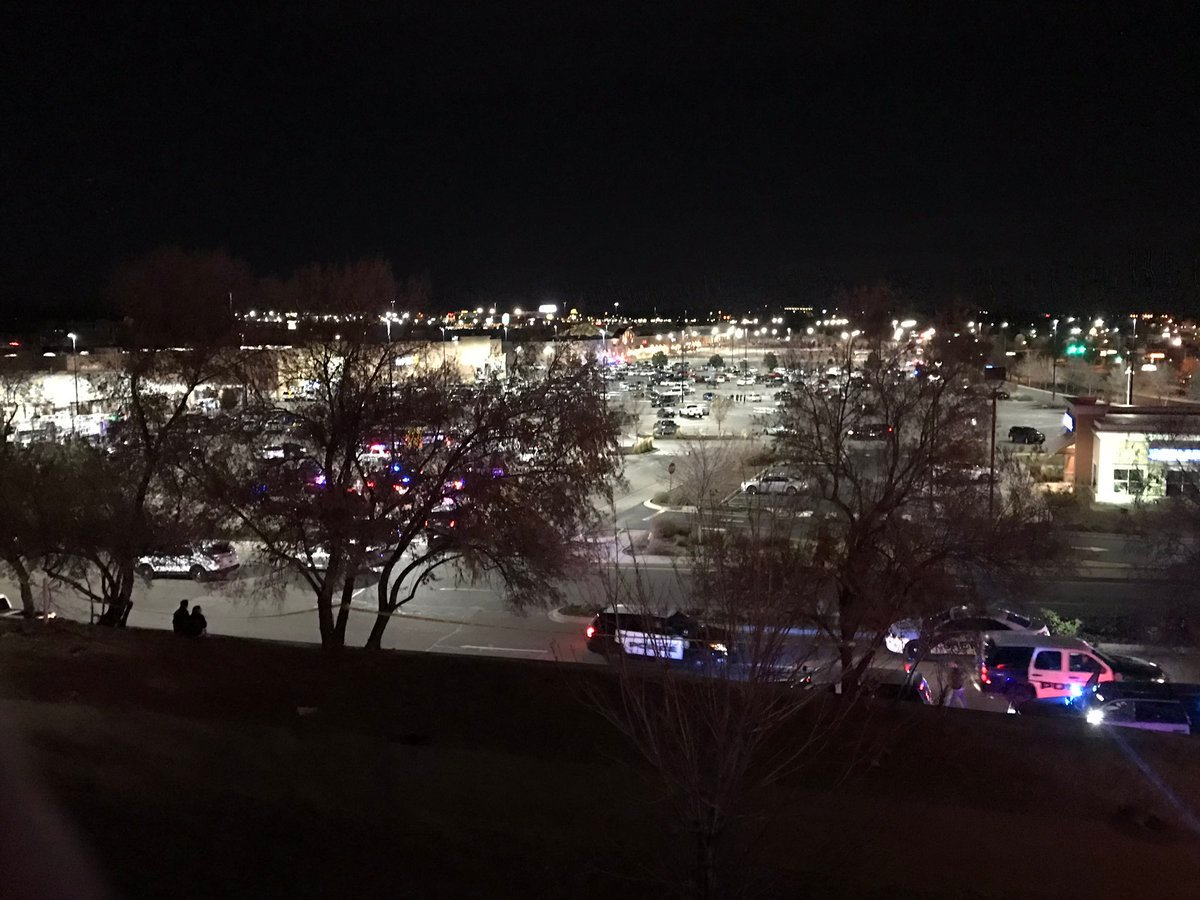 The scene of a shooting at a Walmart in Thornton on Nov. 1, 2017.