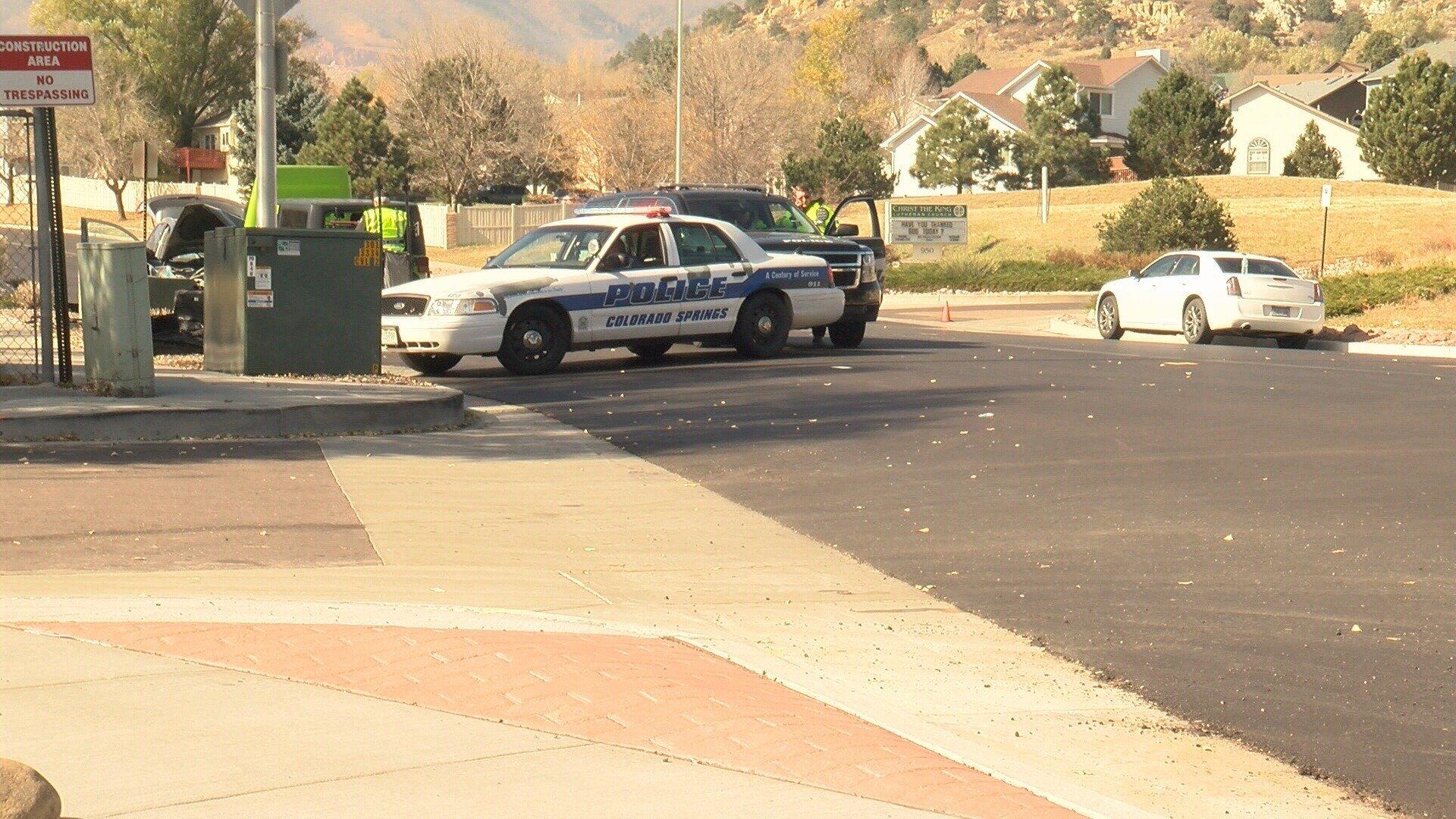Colorado Springs PD investigates a fatal crash at Vindicator and Rockrimmon. (KOAA)