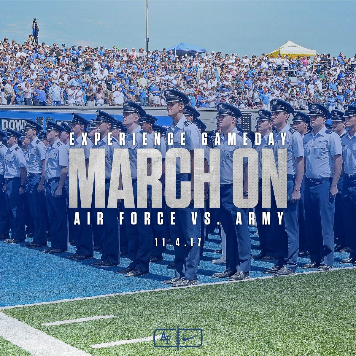 Air Force vs Army take it to the gridiron Saturday Nov. 4 at 1:30 p.m. (Photo from @AF_Academy)