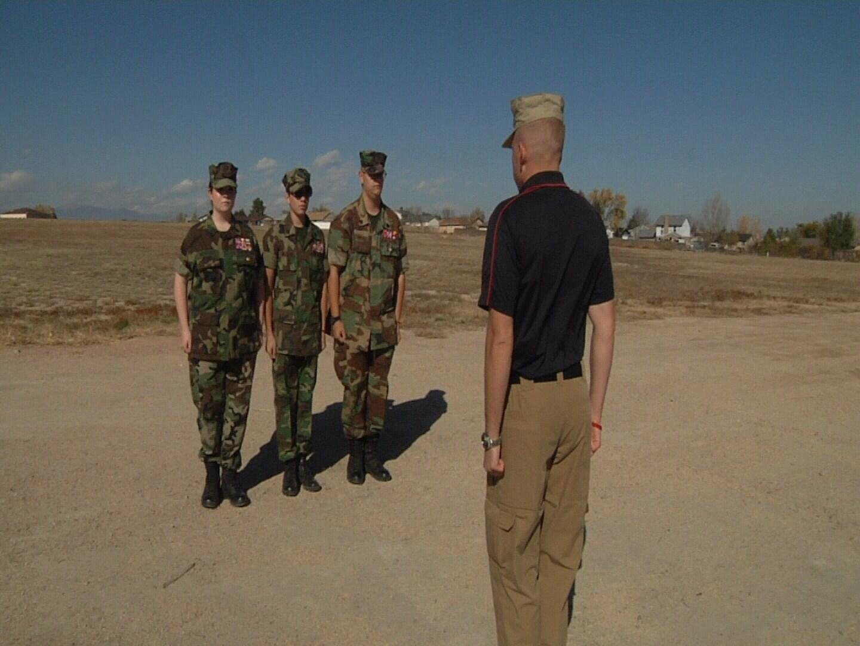 Pueblo Young Marines practicing drills