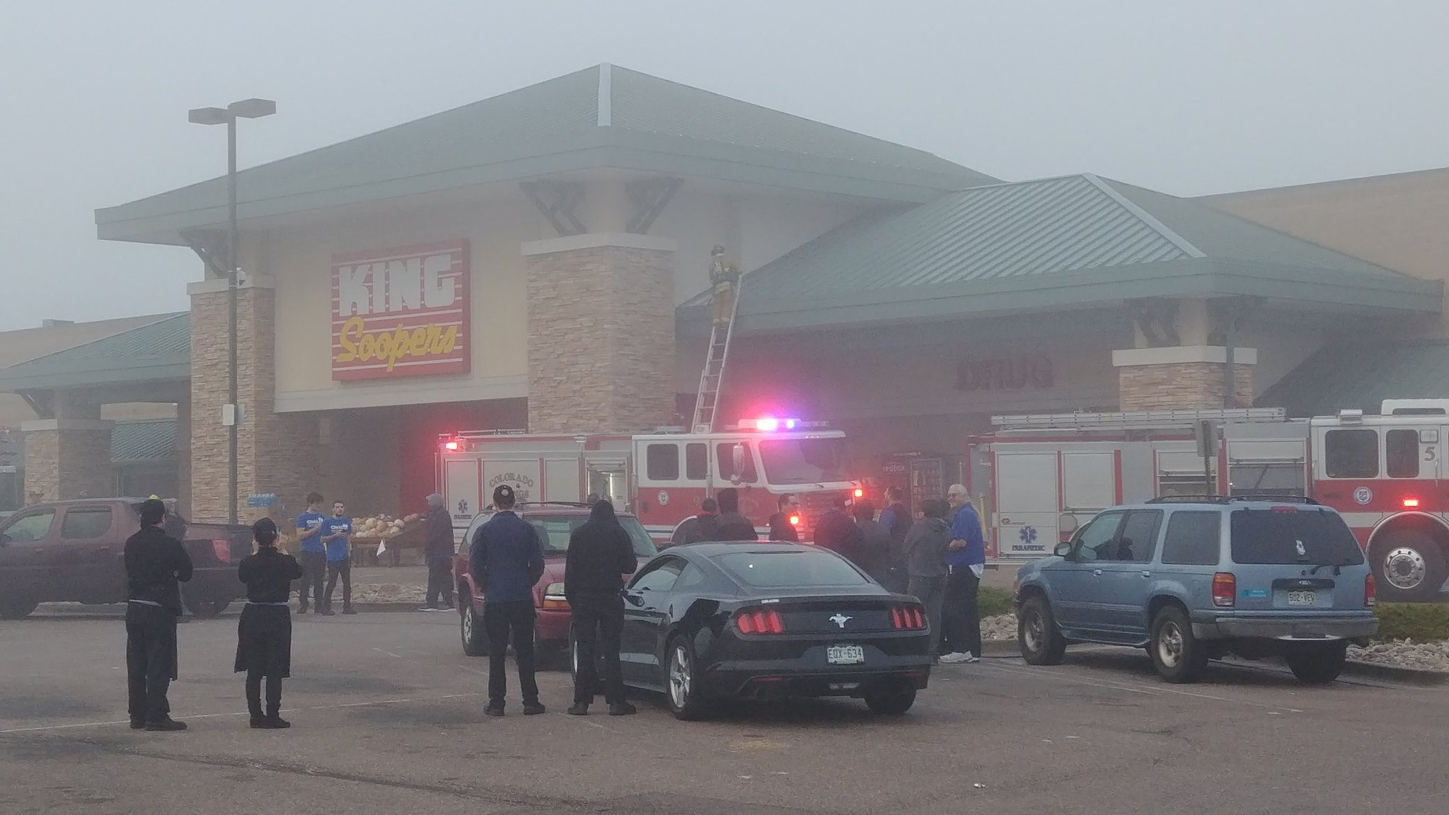 Light smoke caused employees to leave the King Soopers on Centennial during a fire investigation. (KOAA)
