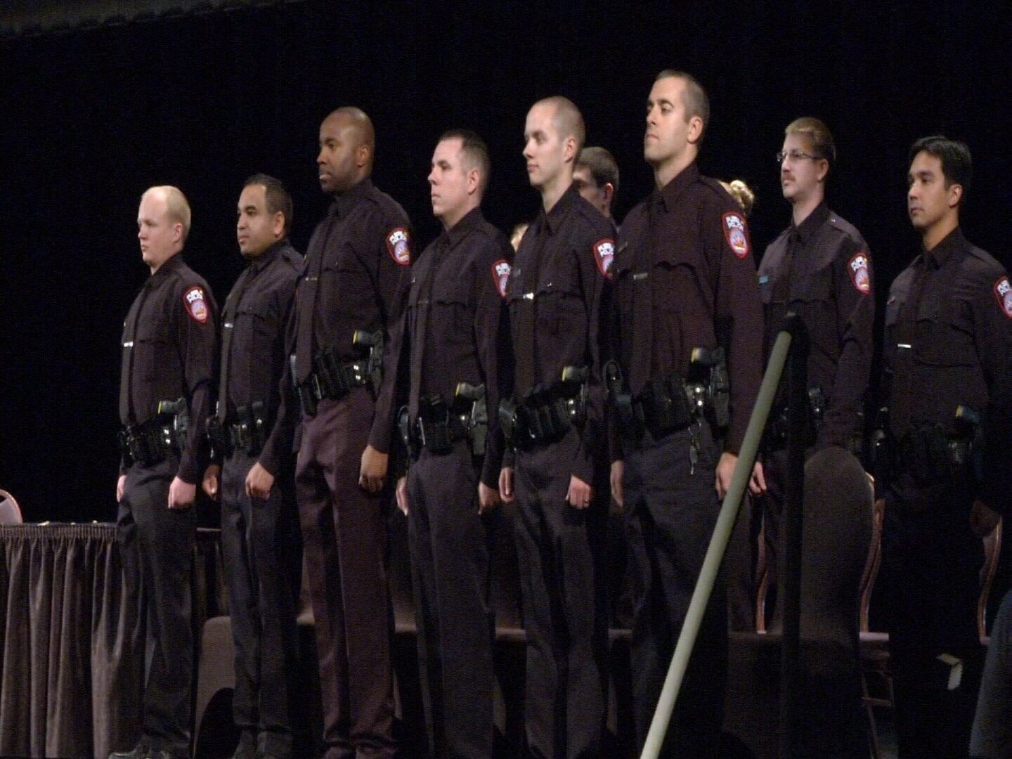 Pueblo's police academy will be busy after voters approved a sales tax increase to pay for an addition of 24 new officers to the force. File image of Pueblo Police Graduation Ceremony