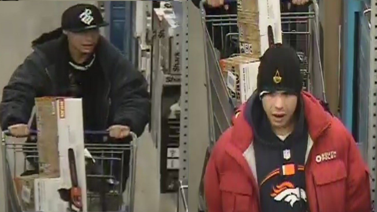 Pueblo PD asking for help finding 2 men who confronted a Lowe's employee with a handgun on November 7, 2017.