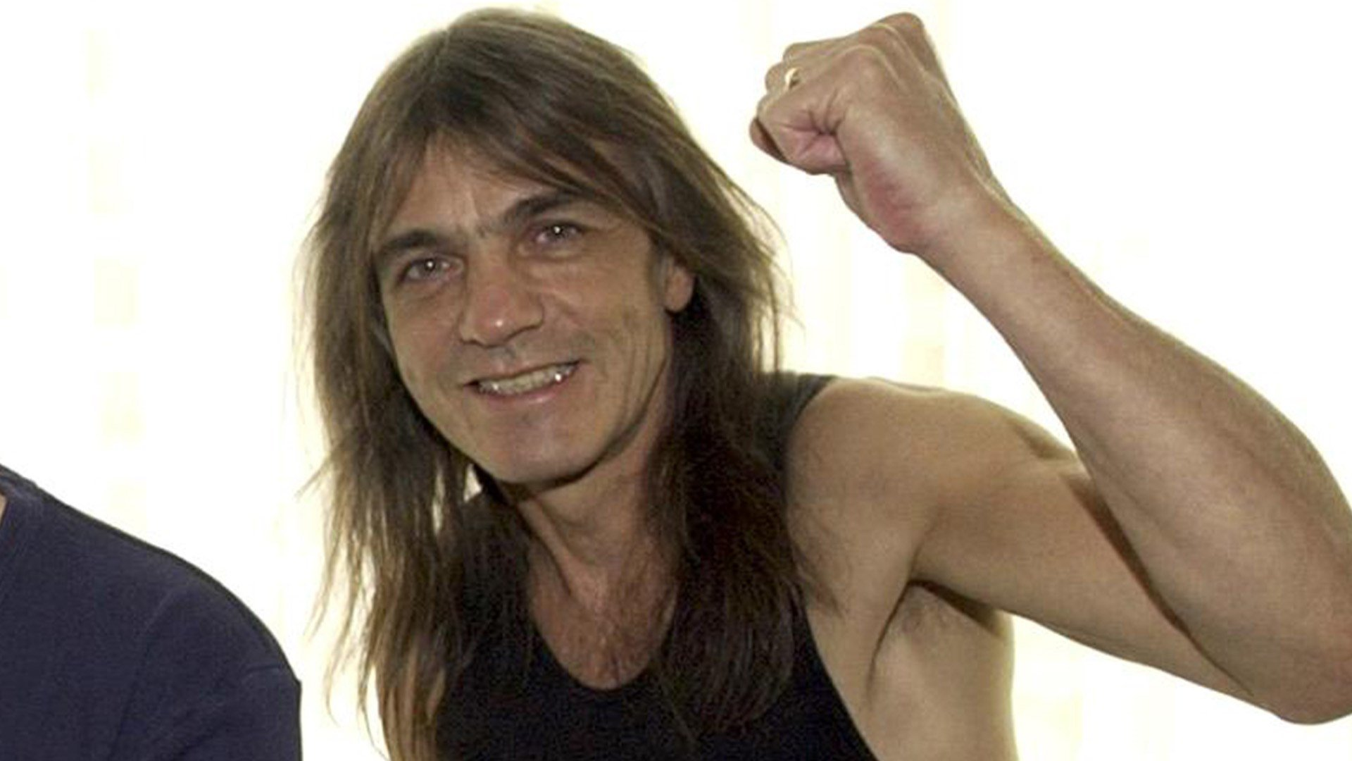 AC/DC guitarist Malcolm Young at a photoshoot in 2003.