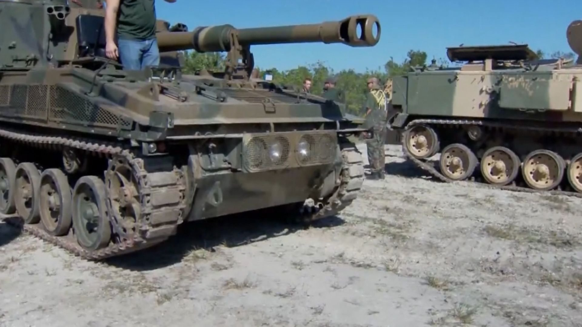 Now you have a chance to drive a tank over a car at Tank America in Florida. (WESH)
