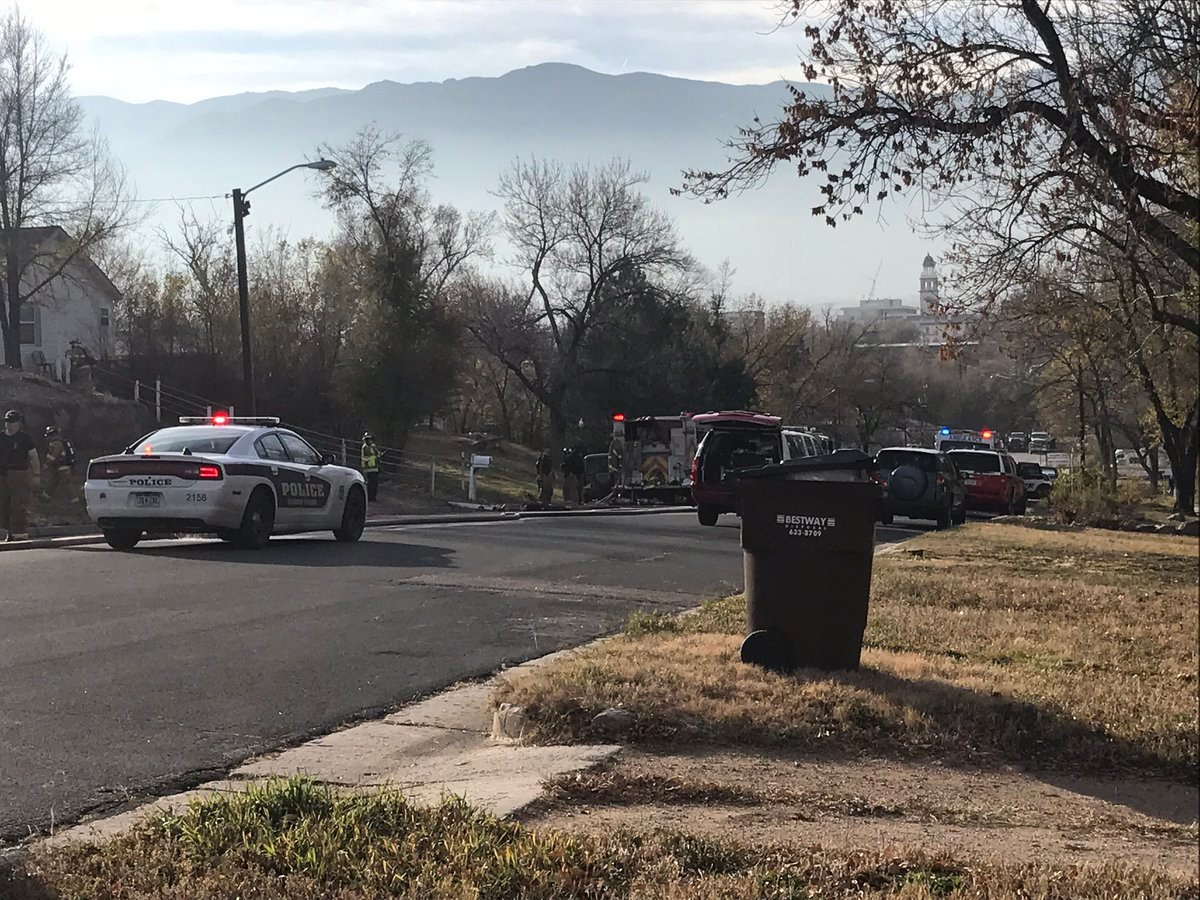 Police on the scene of a deadly house fire in Colorado Springs on Nov. 10, 2017.