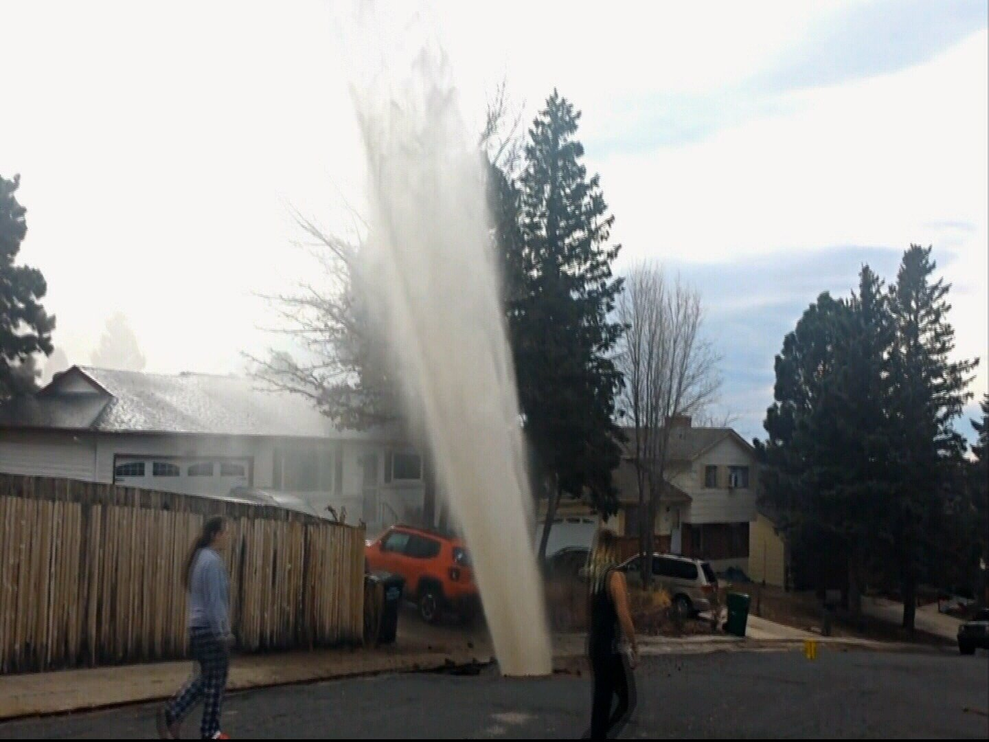 Water main breaks at Del Paz and Montebello in Colorado Springs. (KOAA)