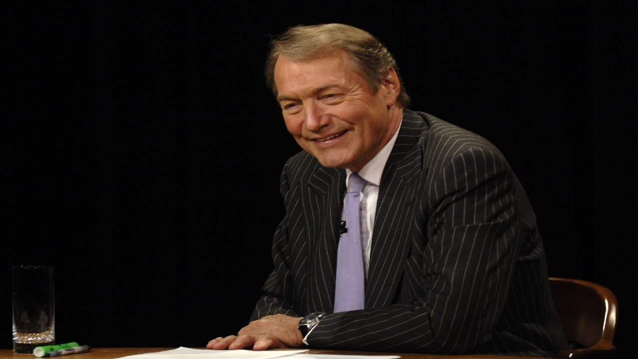 Charlie Rose speaks during a live online forum, Wednesday, Sept. 12, 2007, in New York. (AP Photo/ Louis Lanzano)