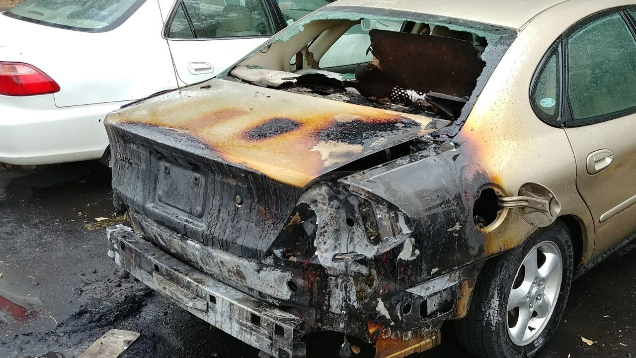 Colorado Springs Police are investigating car fires across town on November 21, 2017.
