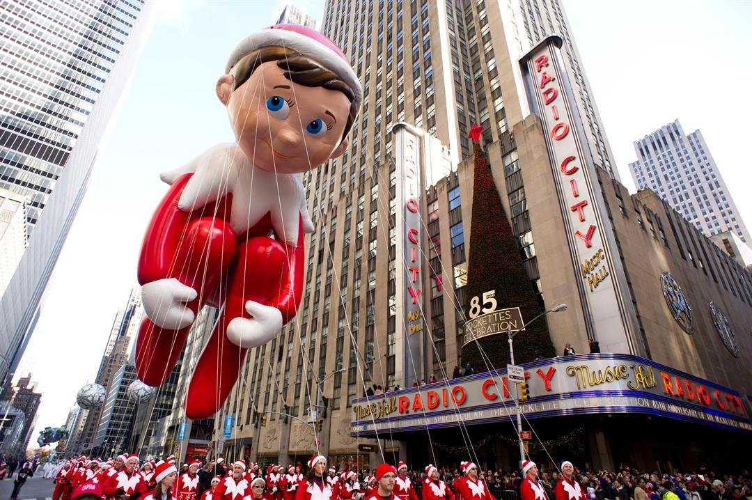 The Elf on the Shelf balloon floats in the Macy's Thanksgiving Day Parade in New York in New York, Thursday, Nov. 22, 2012.