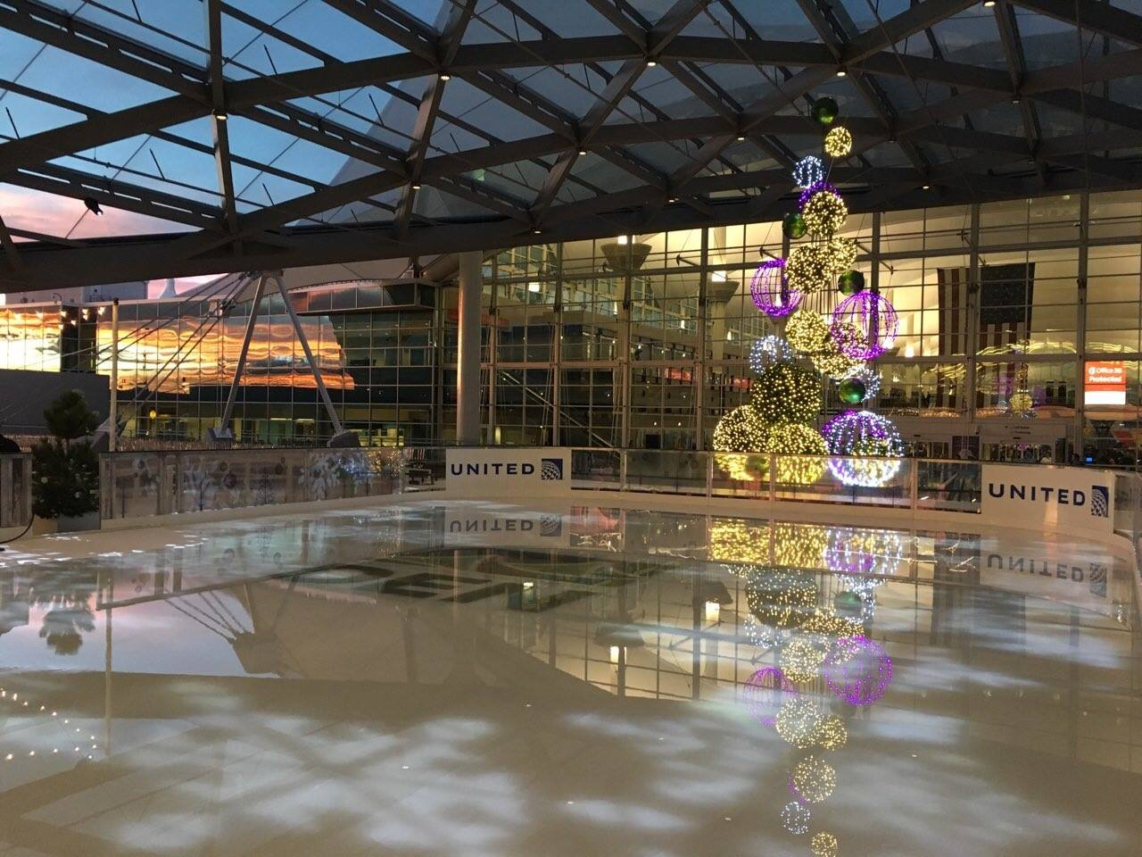 The skating rink at Denver International Airport