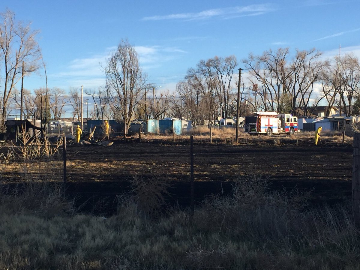 One acre burned in a grass fire in Pueblo.