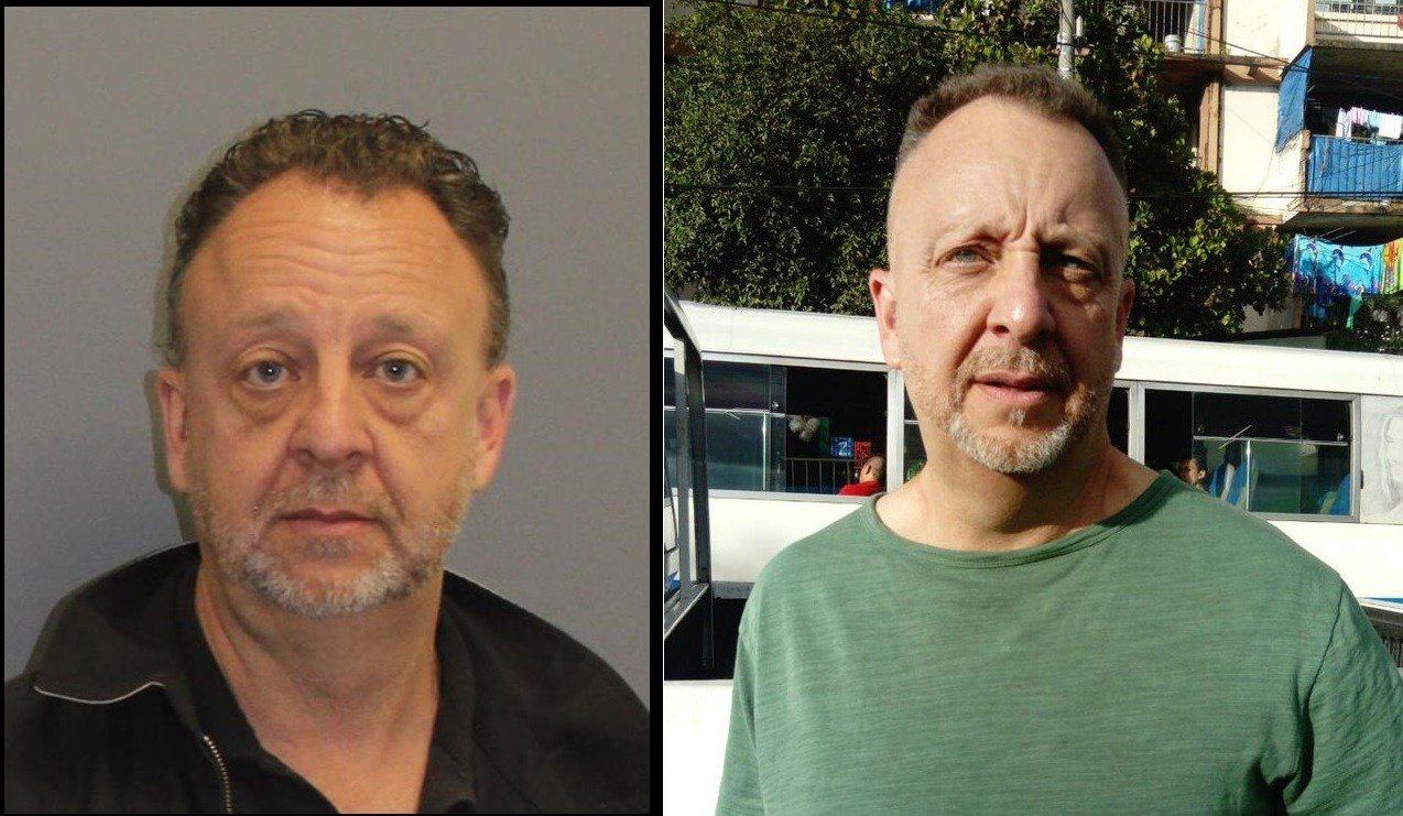 Photos of Jeffery Gordon Fogg from Pueblo County Sheriff's Office (left) and the El Salvadoran National Civil Police (right)