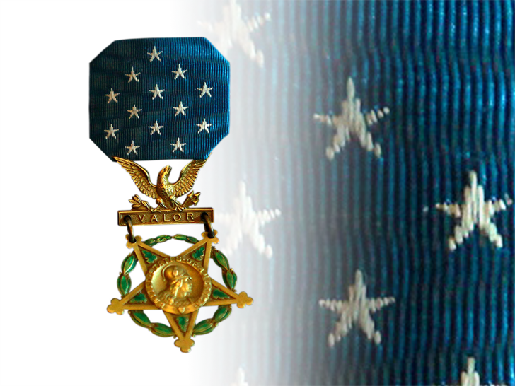 The Medal of Honor is presented to service members for act of heroism in battle.
