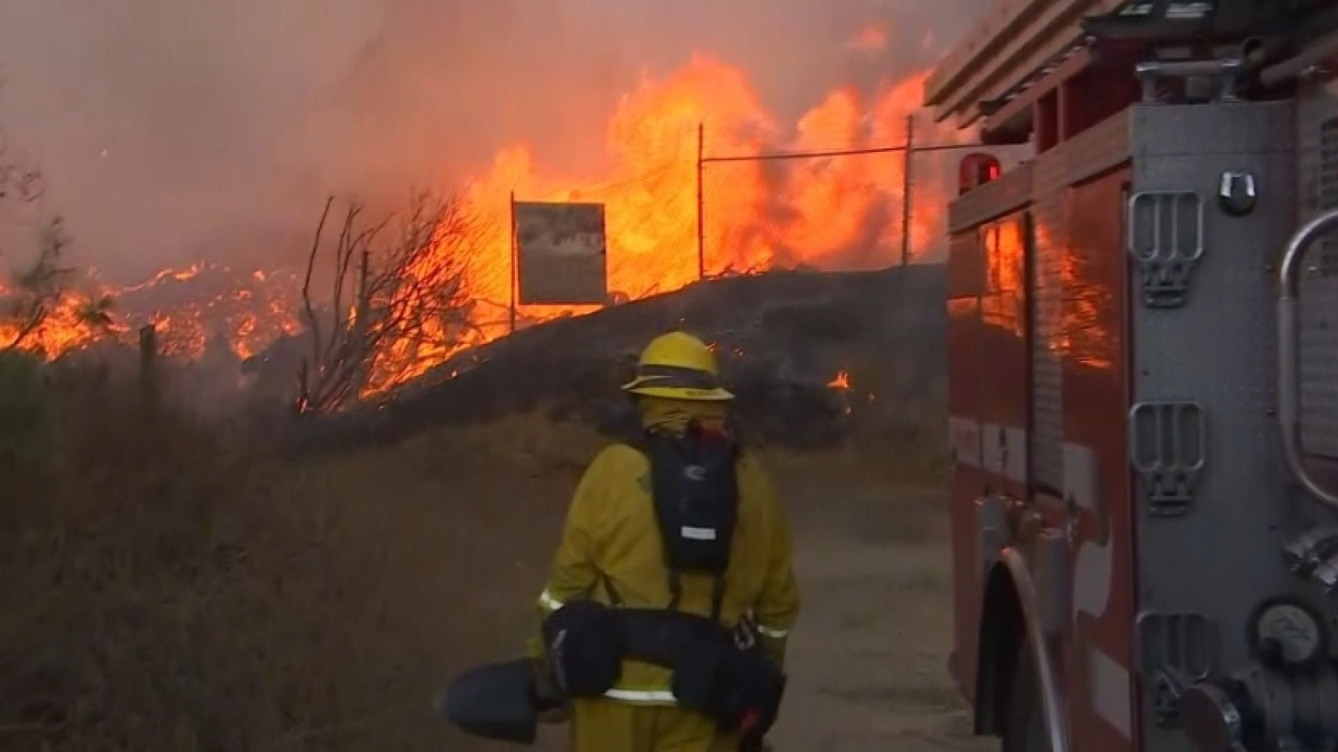 Fire crews battle California blazes