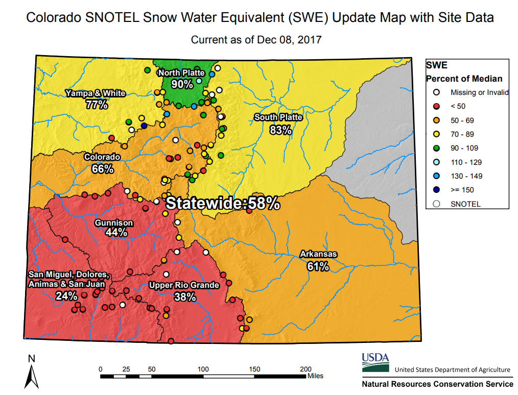 SNOTEL Snow Pack Data