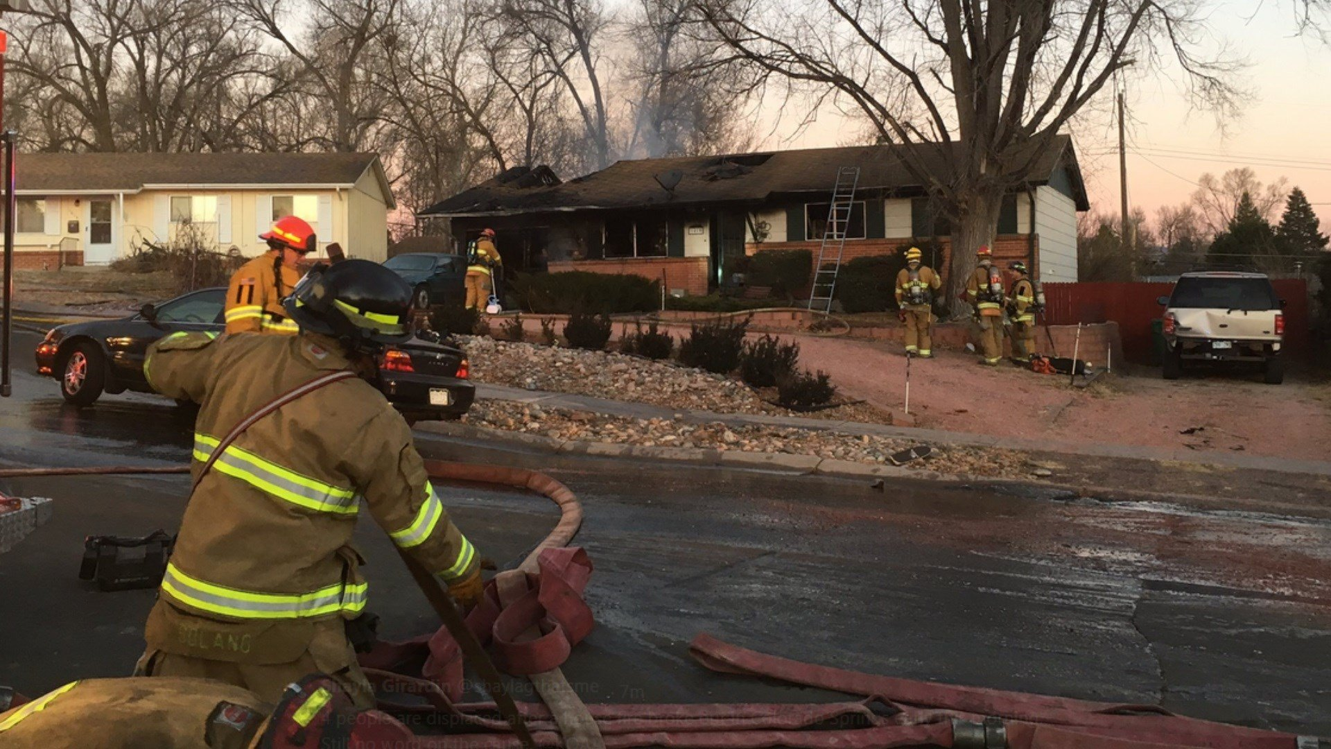 4 people were displace by this house fire on Yosemite Drive. (KOAA)