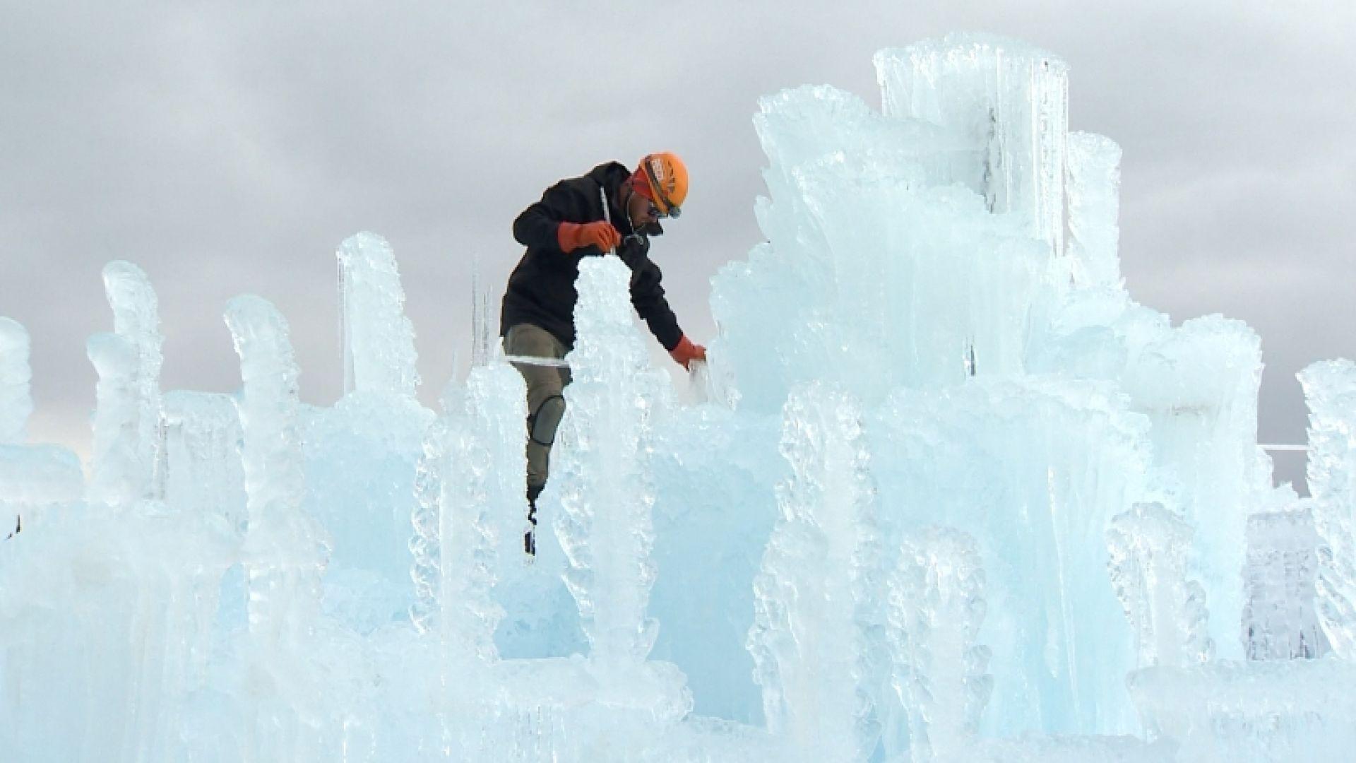 Ice castle in Dillon, Co