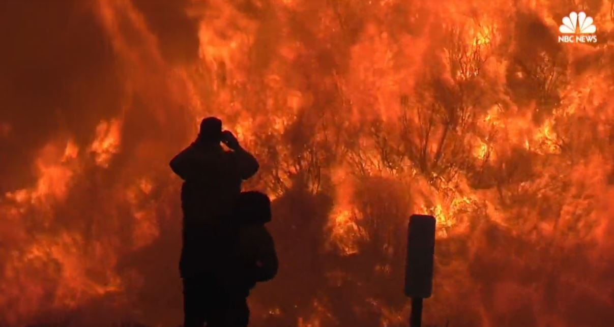The Thomas Fire in Southern California is the 4th largest in state history. (NBC News)