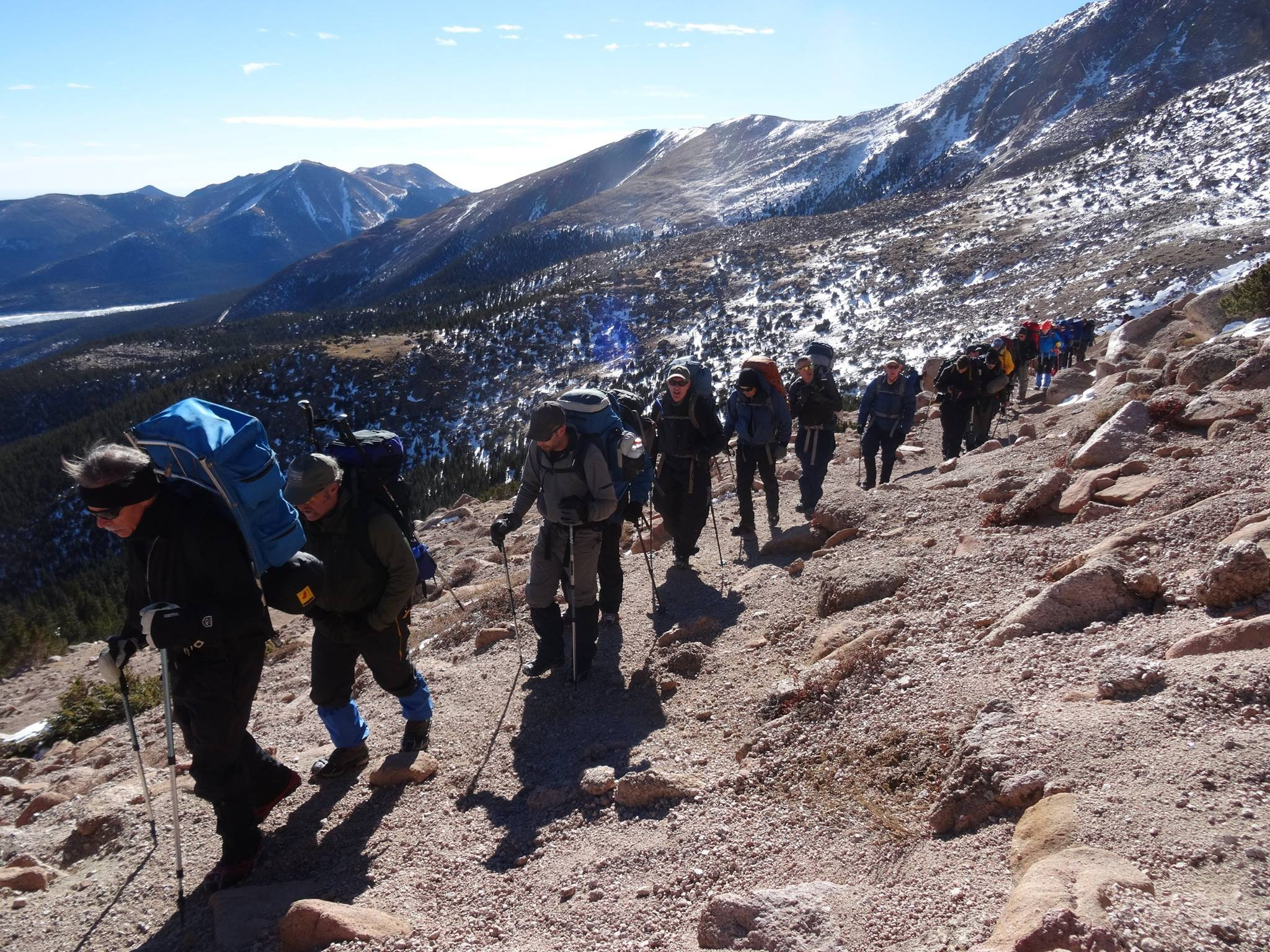 The AdAmAn club on its 2016 climb up Pikes Peak.