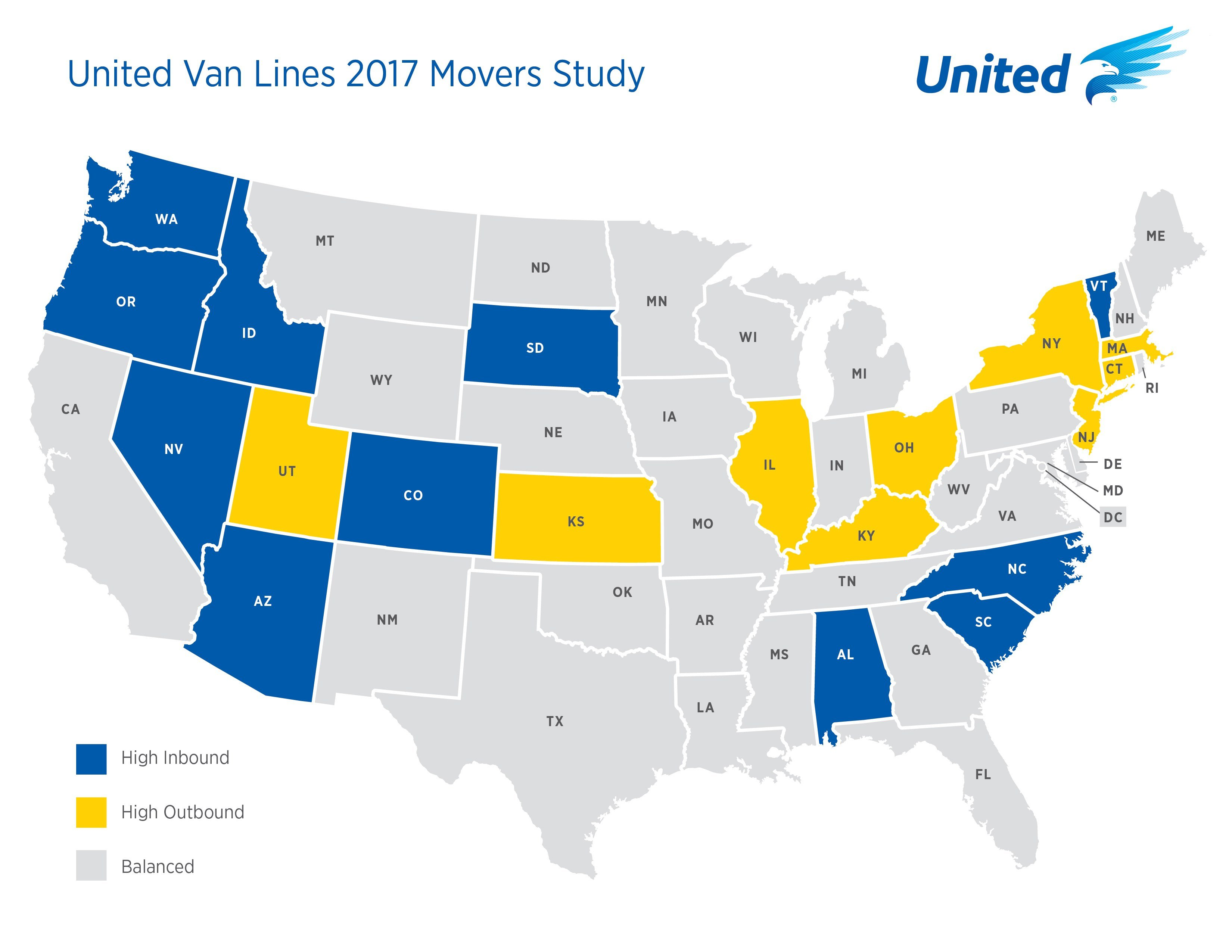 Connecticut Among the Top States to Move From
