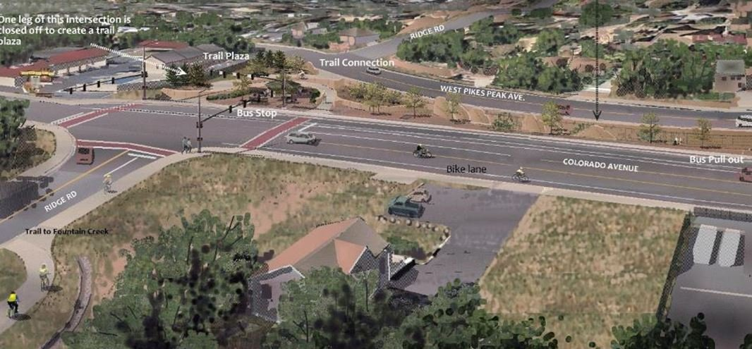 Graphic rendering for what Ridge Road will eventually look like after WAAP project is finished.