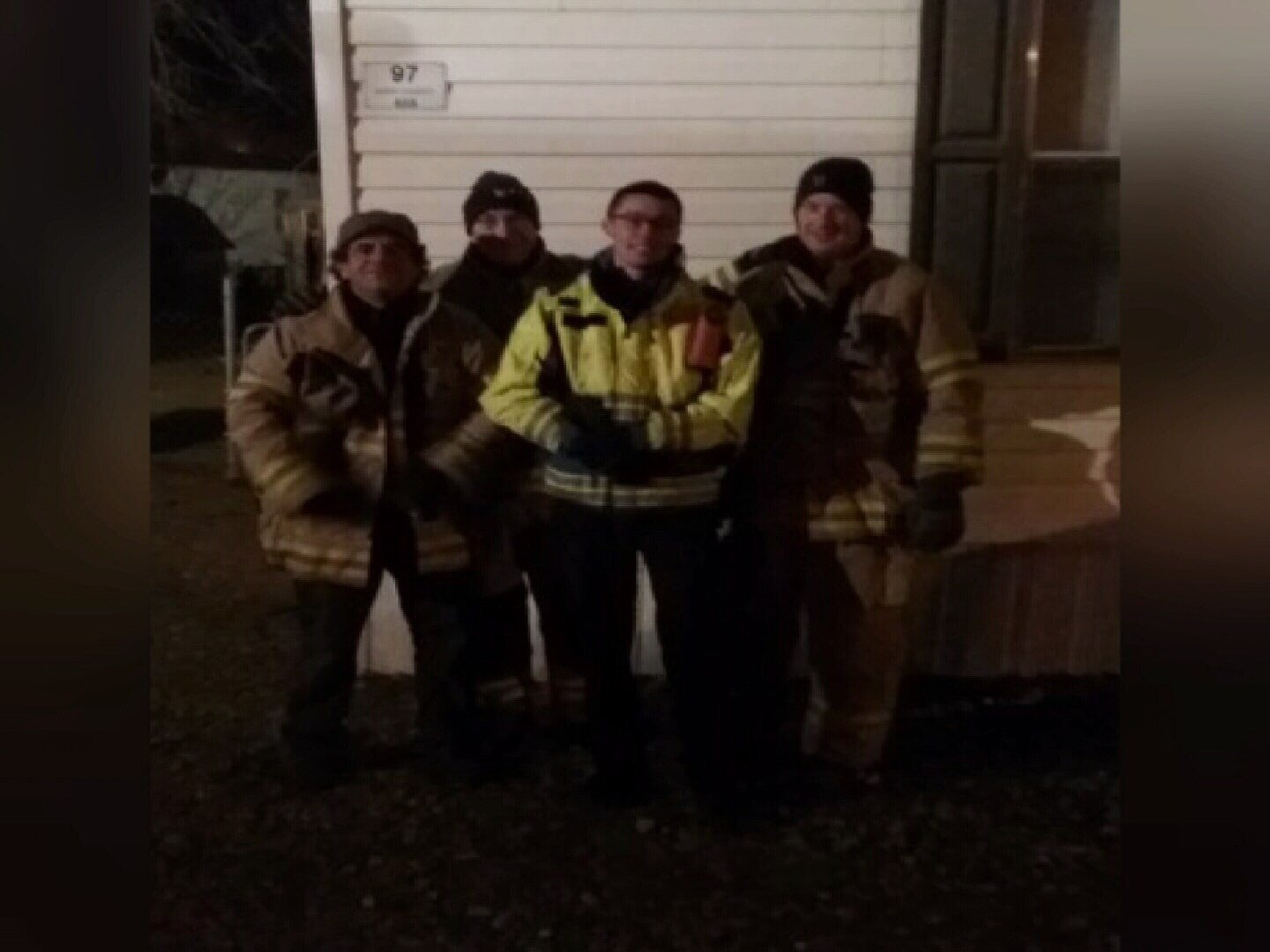 West Park Volunteer Firefighters who helped rescue Fluffy the cat from a tree