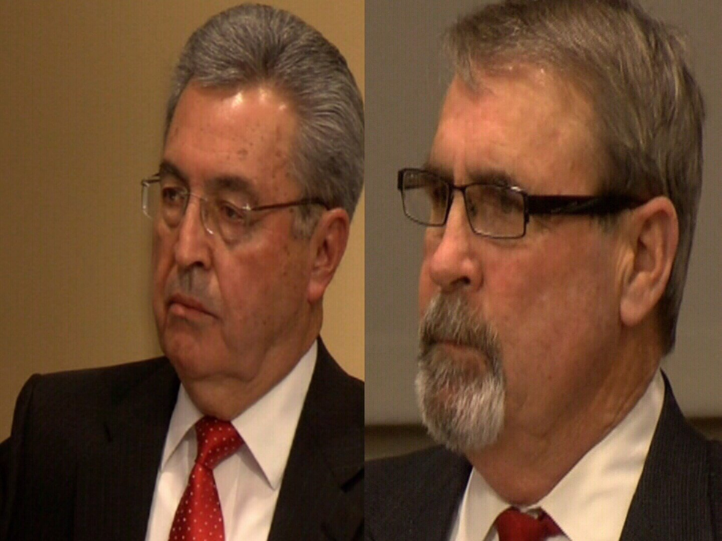 Left to right: Pueblo City Council members Dennis Flores and Mark Aliff
