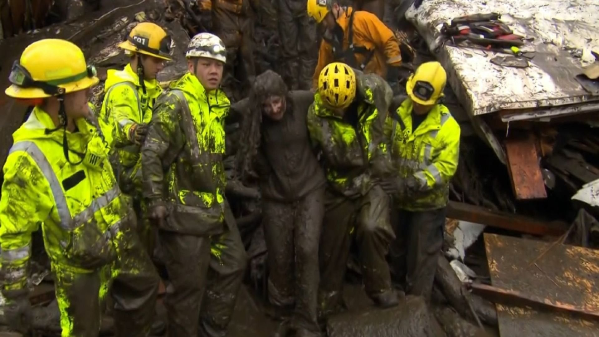 Rescue workers hoping for miracles after California mudslide