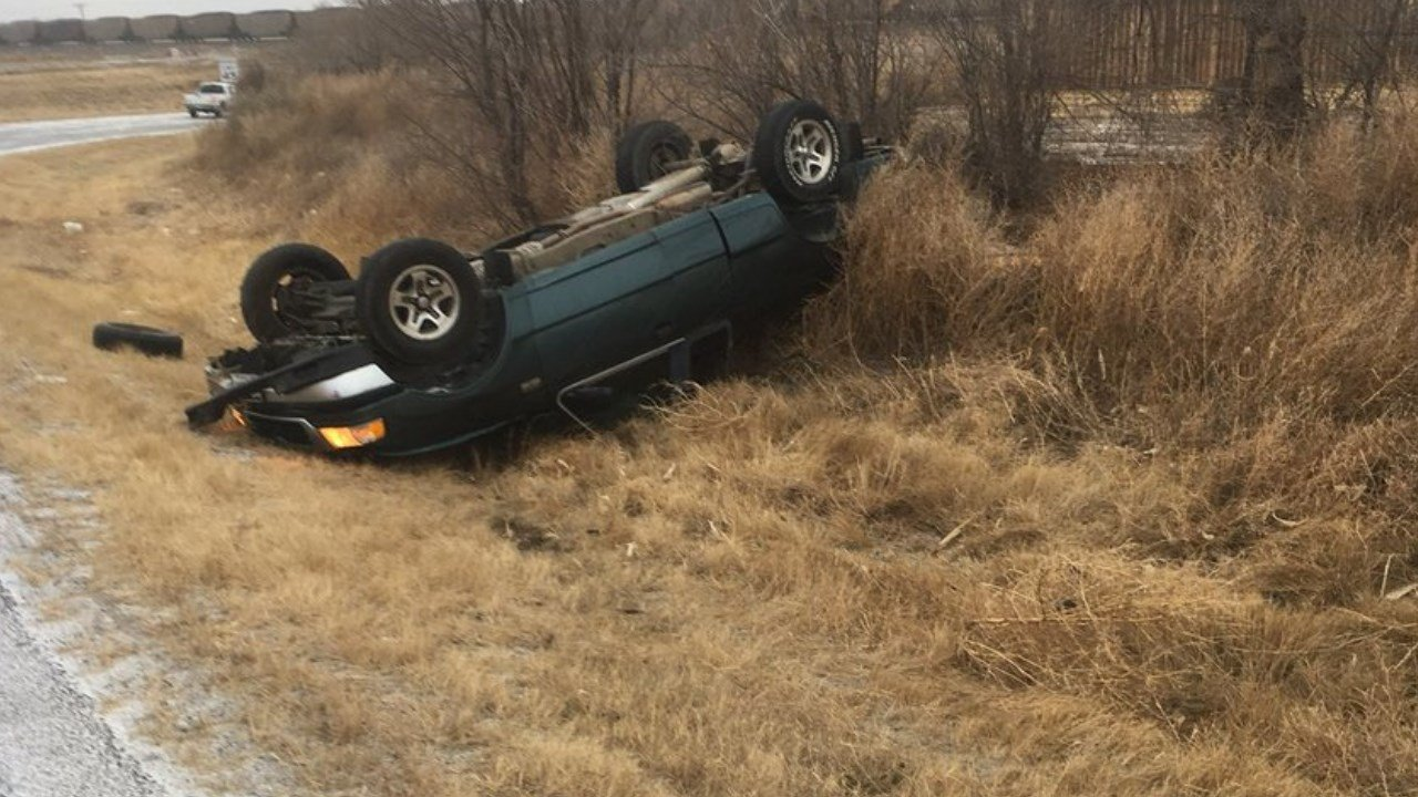 Accident at HWY 50 at Swink underpass... the roads are getting slick, please use caution as you travel today (Otero County)