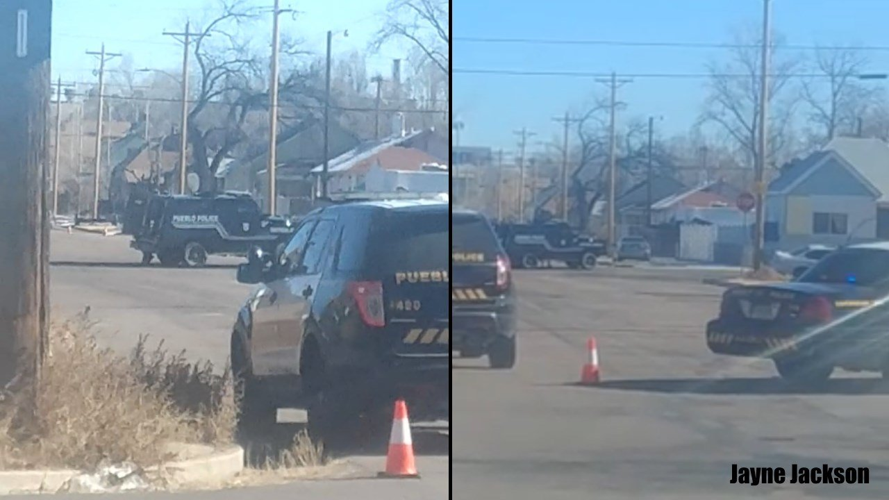 Pueblo SWAT sets up at a home on Orman Avenue for a shots fired called. (Facebook: Jayne Jackson)