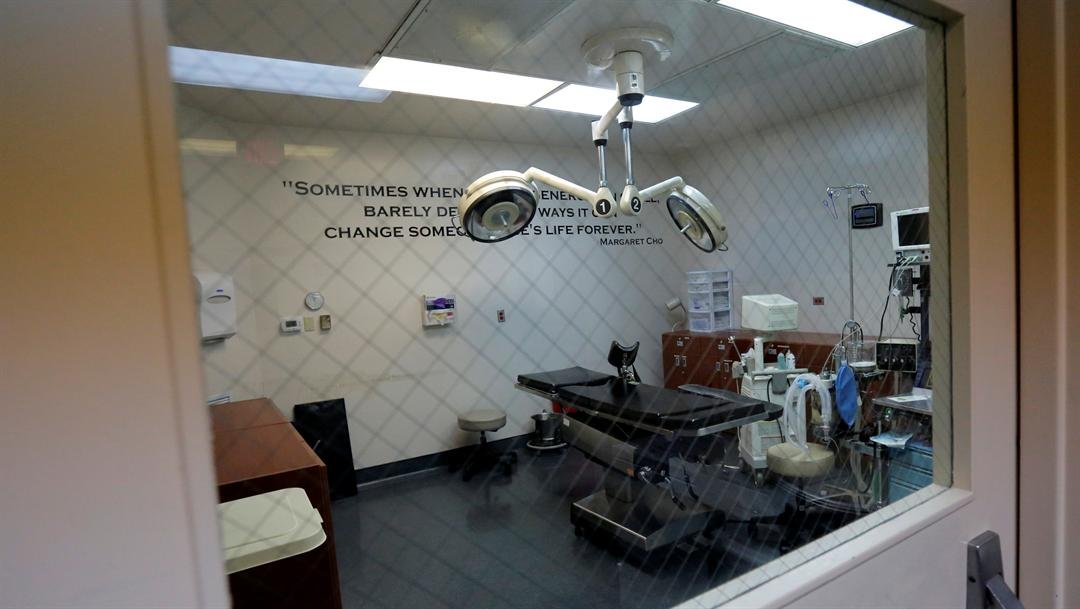 File Photo: A medical operating room is seen through a door window during a tour at Whole Woman's Health of San Antonio,
