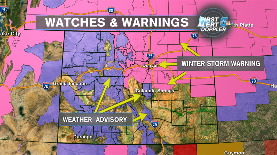 Winter Weather Advisories for Sunday