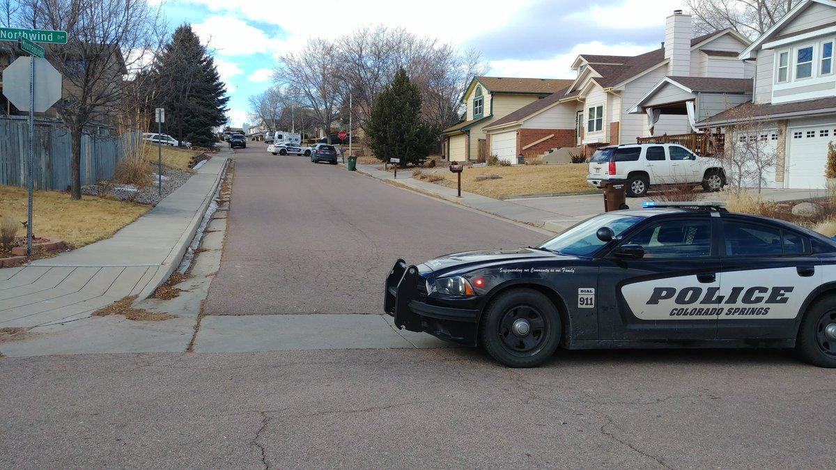 Police activity in Colorado Springs neighborhood.