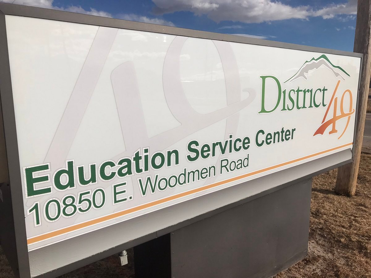 """School District 49 is looking to change their name to """"Pikes Peak School District 49"""" this spring. (KOAA)"""