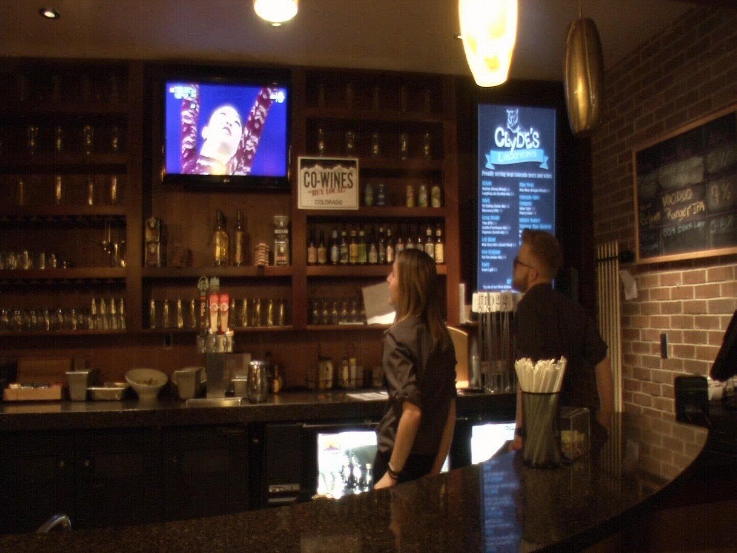 Students and staff gather to watch Mirai Nagasu compete in the winter Olympics at Clyde's Gastropub on the UCCS campus. (KOAA)