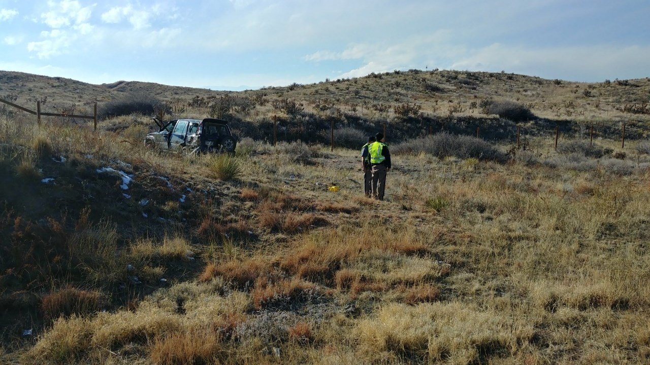 Fatal crash near mile 125 on I-25 southbound. One women is dead after being ejected in rollover crash. (KOAA)