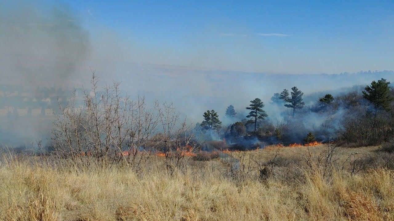 Grass fire near Gate 5 at Fort Carson (KOAA)
