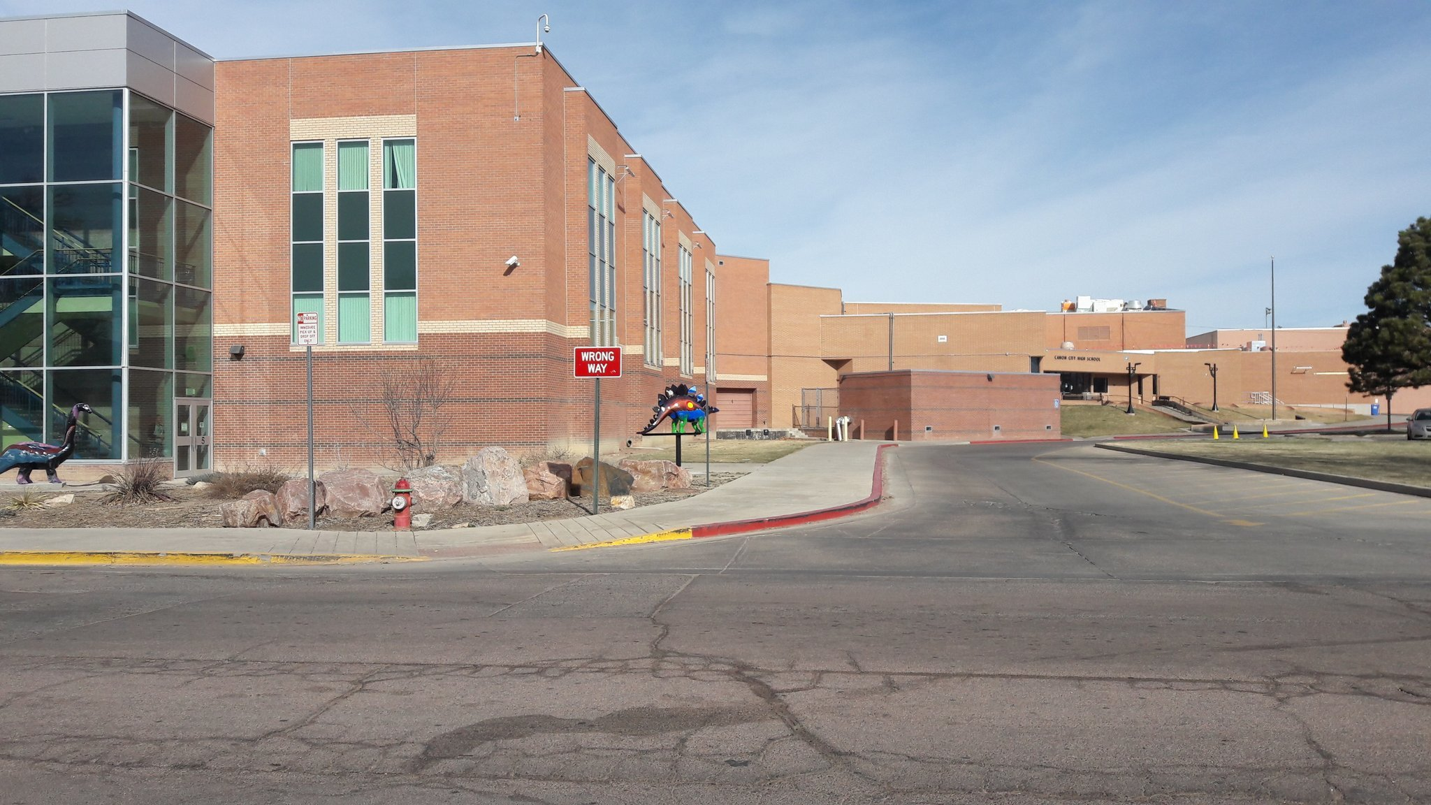 Canon City HS is on lockout status due to a credible threat in nearby Florence. (KOAA)