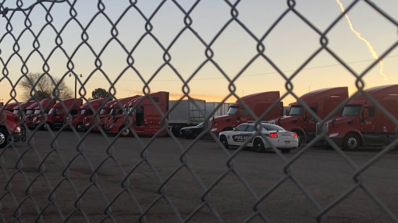 A suspect is in custody after a stand off with CSPD at the First Fleet Trucking Company. (KOAA)
