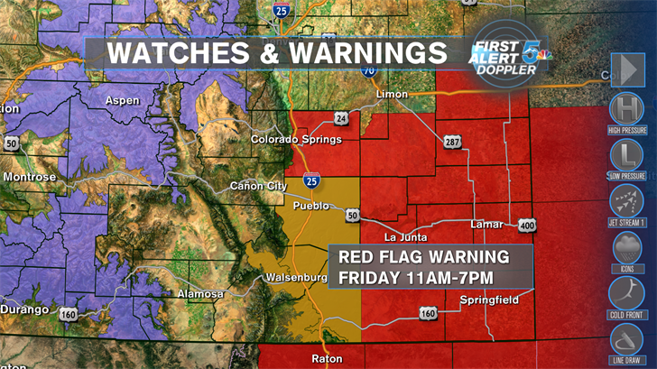 Windy, very high fire danger today!