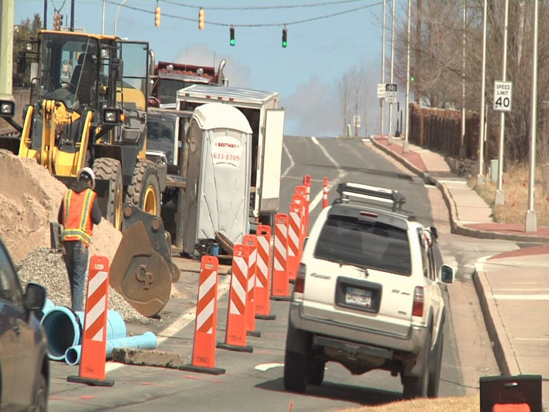 Construction work being done near Bear Creek Regional Park