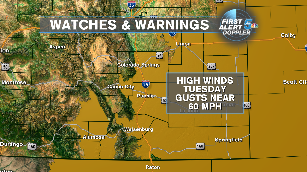 Strong winds with high fire danger