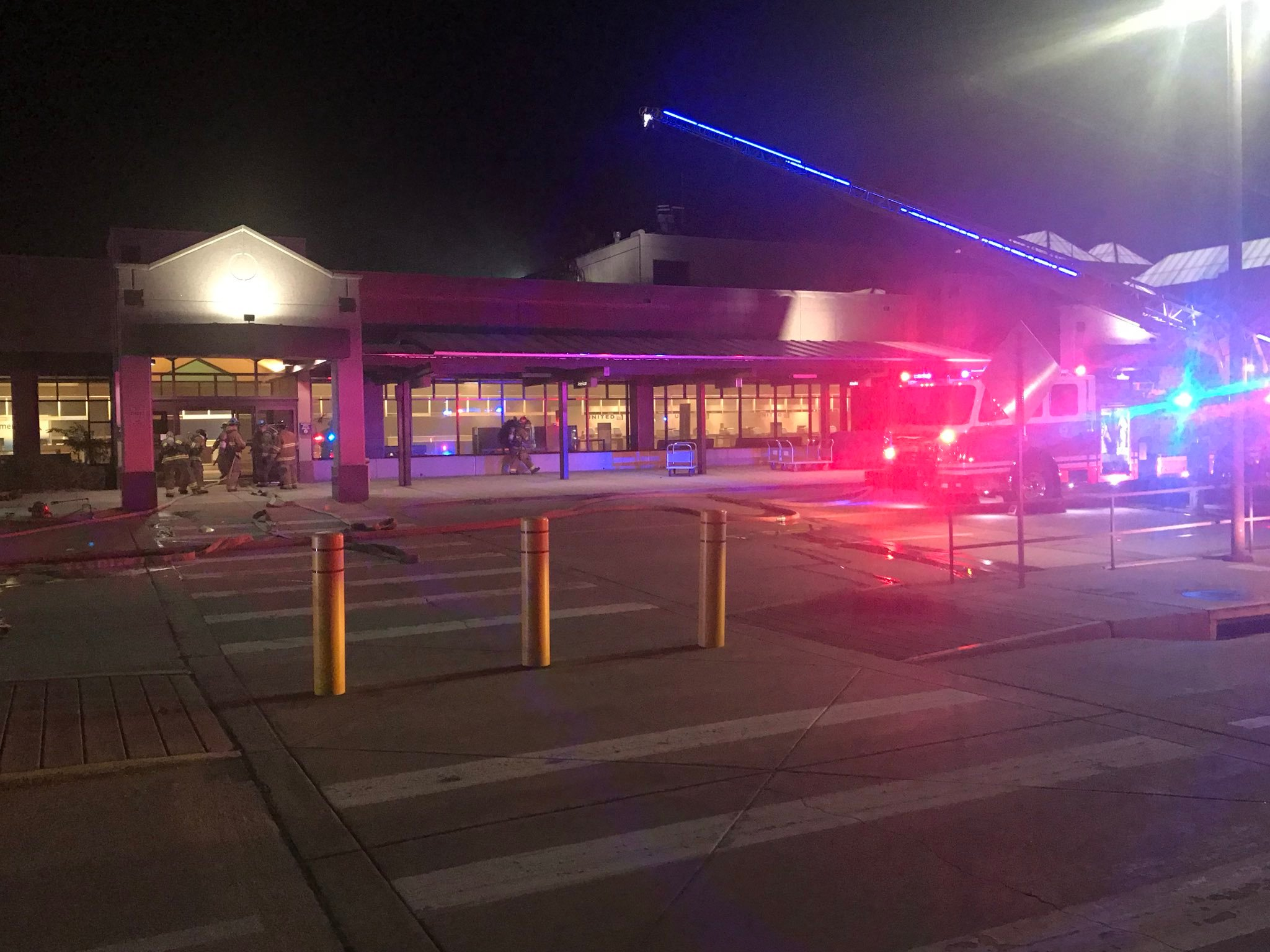 Colorado Springs Airport closed following three-alarm fire