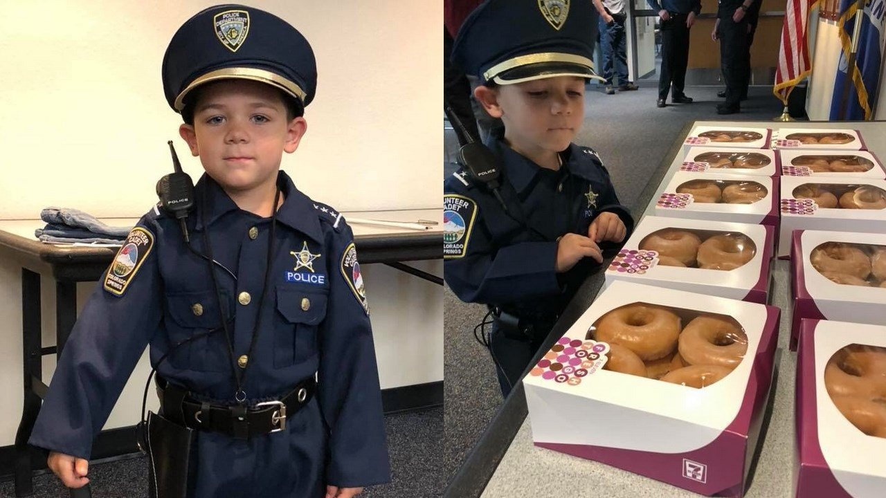 The Colorado Springs Police Department welcomes Officer Joshua for a visit. (Colorado Springs Police Department)