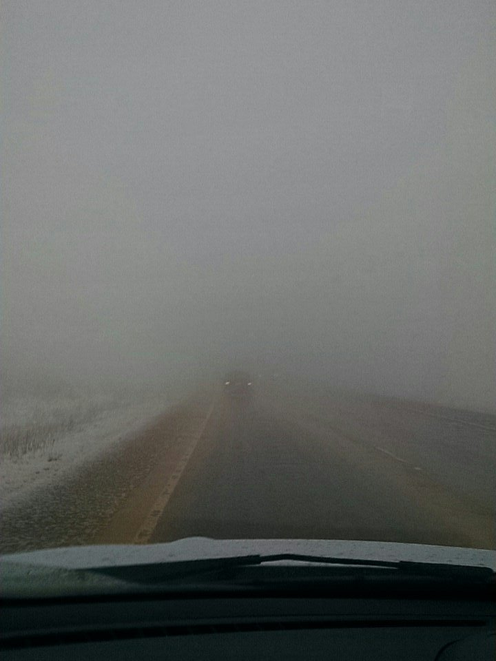 Visibility becoming an issue on Highway 24 in Woodland Park on Friday night. (KOAA)