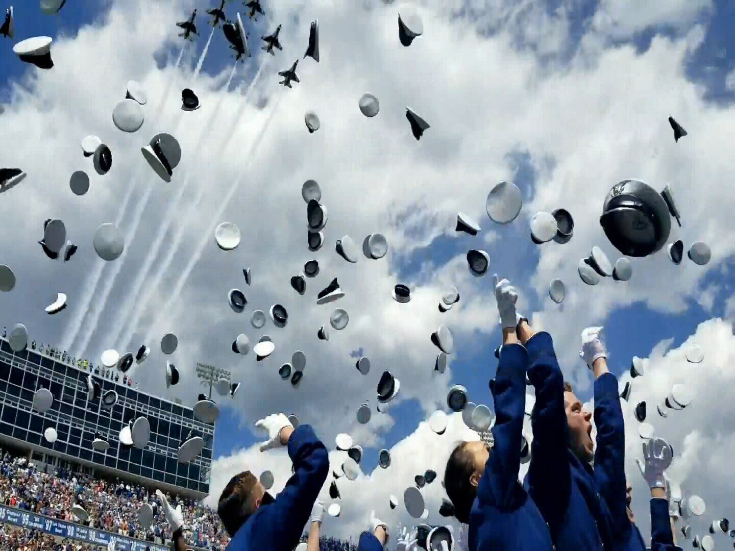 Nearly 1000 cadets graduate from the United States Air Force Academy. (KOAA)