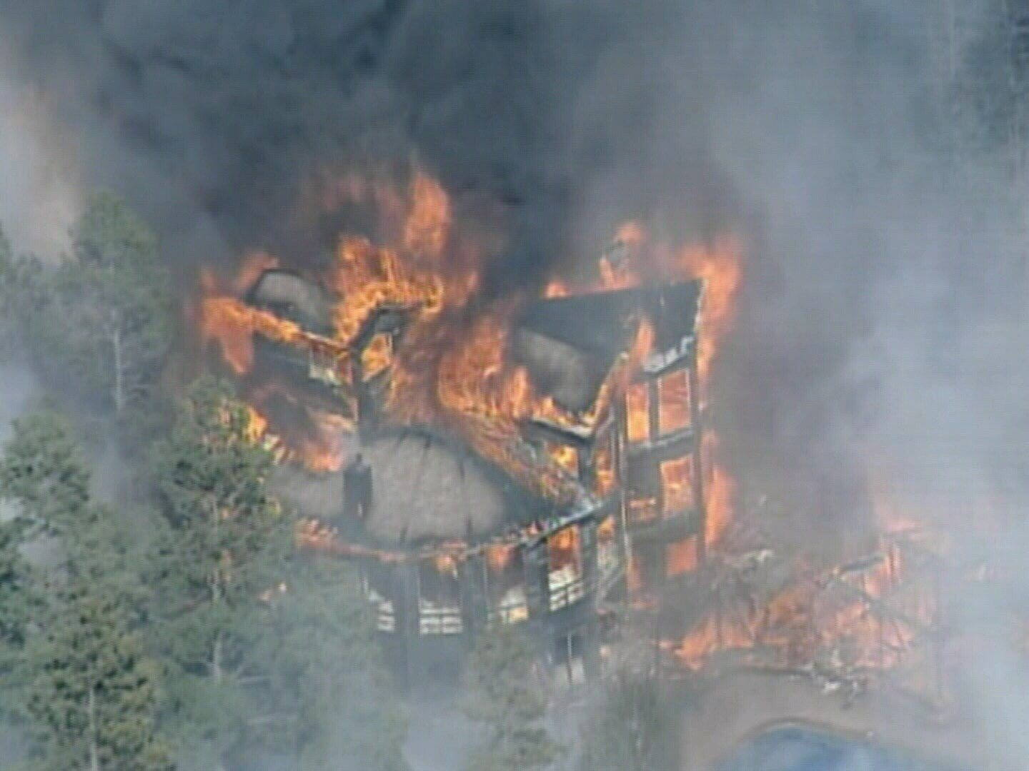 House burning in Black Forest Fire