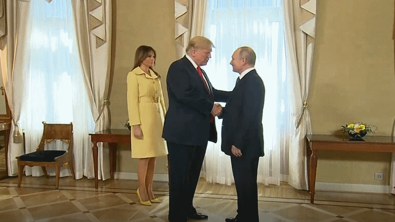 President Trump and First Lady Melania meet with Russian President Vladimir Putin in Finland.